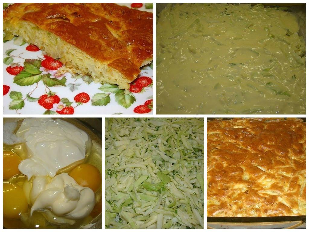 Быстрый пирог с капустой пошаговый кулинарный рецепт с фото на...