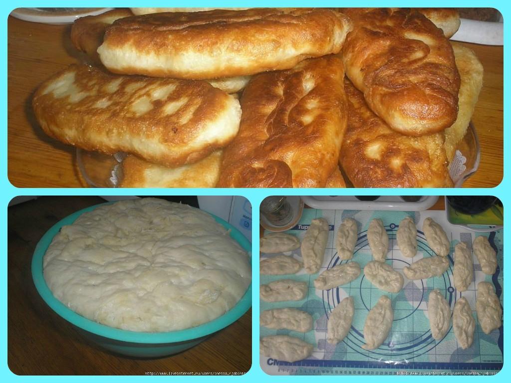 Разделайте тесто на кусочки, слепите пирожки и обжарьте их на хорошо разогретом растительном масле на среднем огне.