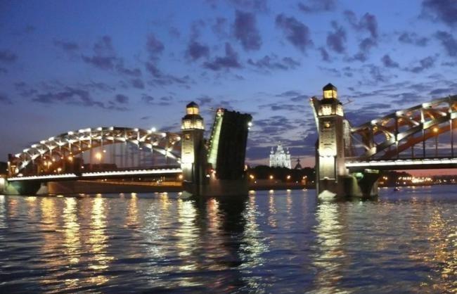 Мост Петра Великого Большеохтинский 100 великих