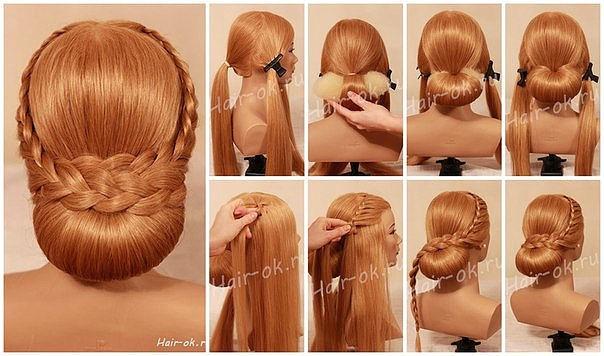 Как сделать причёски из кос