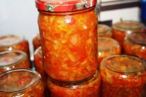 Капуста белокочанная — 1,5 кг, лук — г, морковь — г, помидоры — г, сахар — 75 г, соль — 1 ст.