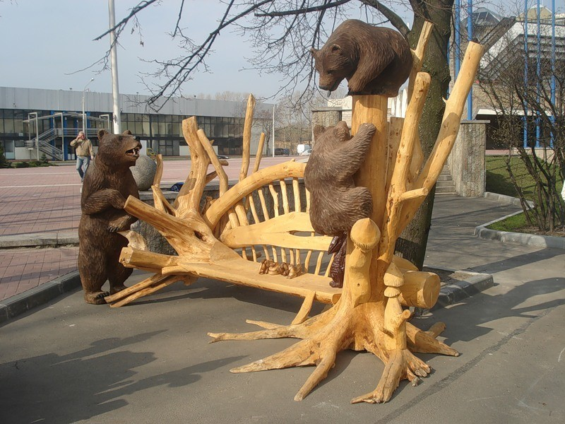 Фигуры из дерева своими руками фото