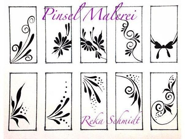 схемы для рисования на ногтях для начинающих
