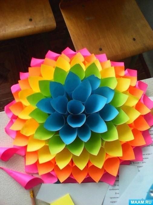 Поделки из бумаги объемные цветы
