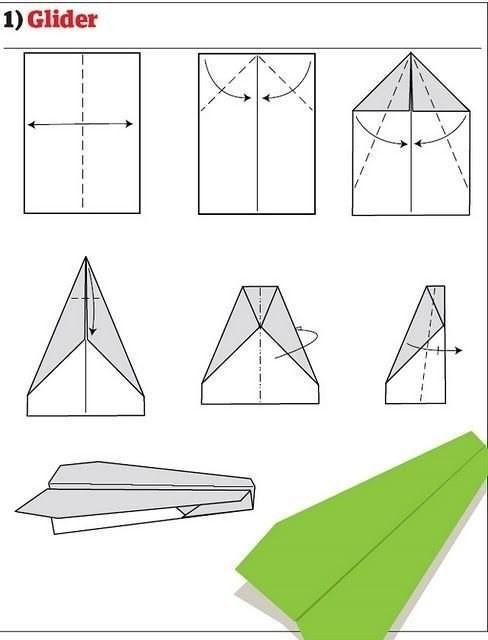 Как сделать самолёт из бумаги фото