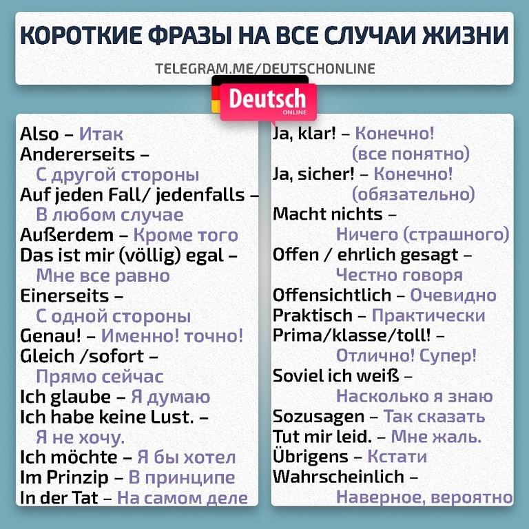 Знакомства немецком фразы на
