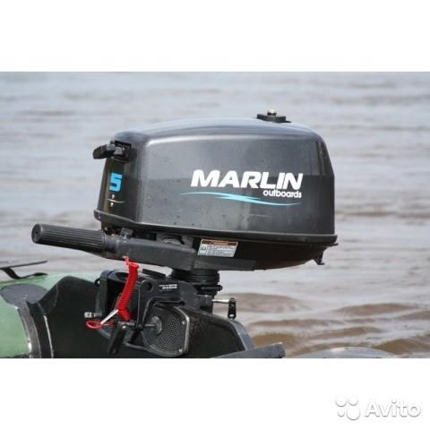 Продам 2 т подвесной лодочный мотор Marlin 5 amhs, выносной бак 12л.