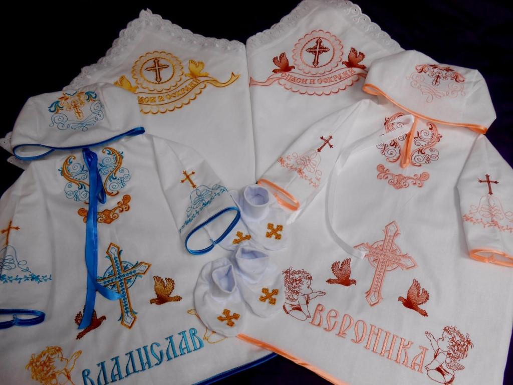 Изготовлю крестильные наборы ,полотенца ,отдельно крестильные рубашкии ,подушки -метрики для ваших детей .Отправлю почтой России в любой регион России.срок изготовления 2-3 дня.